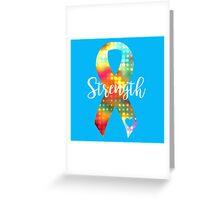 Strength Abstract Ribbon Greeting Card