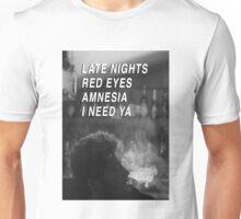 ZAYN SMOKING WITH DRUNK LYRICS  Unisex T-Shirt