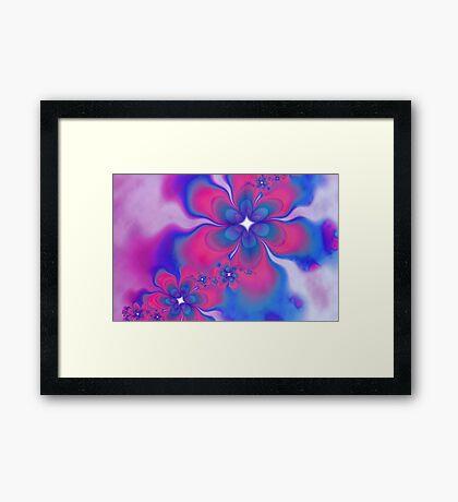 Fleurs Fête Fractal Framed Print
