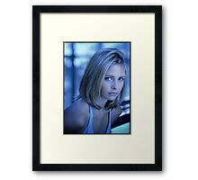 Buffy Blue Framed Print
