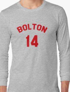 High School Musical: Bolton Jersey Red Long Sleeve T-Shirt