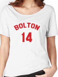 High School Musical: Bolton Jersey Red Women's Relaxed Fit T-Shirt