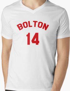 High School Musical: Bolton Jersey Red Mens V-Neck T-Shirt