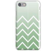 Broken Chevrons (Green) iPhone Case/Skin