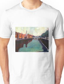 Liffey, Arran Quay and Ushers Quay - Dublin Unisex T-Shirt