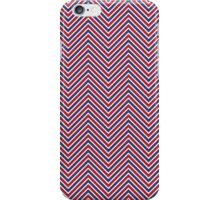 Red White and Blue Zig Zag Chevron Stripes iPhone Case/Skin