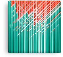 Teal and Red Dynamic Lines Canvas Print