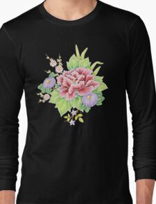 Kimono Bouquet Chintz Long Sleeve T-Shirt