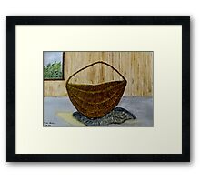 Willow Basket  Framed Print
