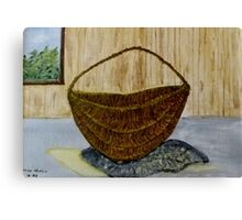 Willow Basket  Canvas Print
