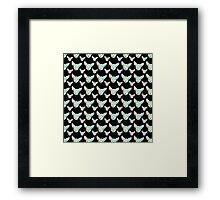 Rainbow Chihuahua Black Background Framed Print
