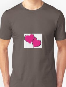 overlapping red hearts T-Shirt