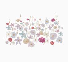 Pink Watercolor Floral Kids Tee