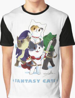 Fantasy Cats Graphic T-Shirt