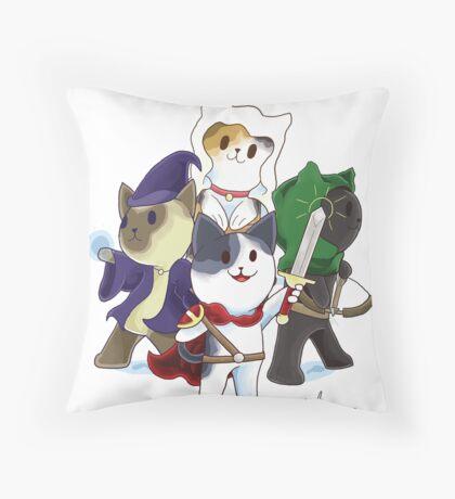 Fantasy Cats Throw Pillow