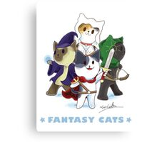 Fantasy Cats Canvas Print