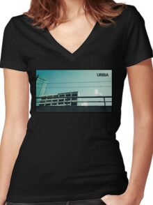 URBIA - Hotel Women's Fitted V-Neck T-Shirt