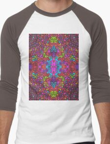 Color Play [Mirror Repeat] Men's Baseball ¾ T-Shirt
