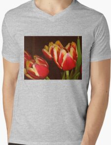 LOVELY RED AND YELLOW TULIPS Mens V-Neck T-Shirt