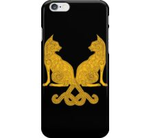 Celtic Cat #6  iPhone Case/Skin