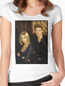buffy and angel Women's Fitted Scoop T-Shirt