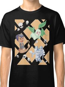 Spooky Pokemon halloween pattern  Classic T-Shirt