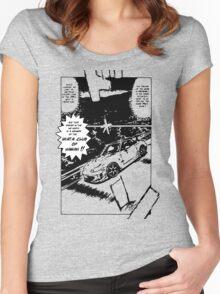 Miata Club of Hawaii Initial D NB Drift Print Women's Fitted Scoop T-Shirt