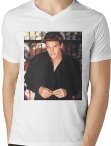Angel smile Mens V-Neck T-Shirt