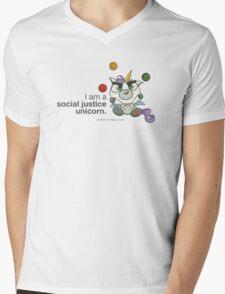 I AM A SOCIAL JUSTICE UNICORN Mens V-Neck T-Shirt