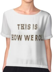 Funny Party Time T-Shirt Chiffon Top
