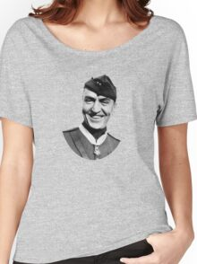 Eddie Rickenbacker Wearing The Medal Of Honor  Women's Relaxed Fit T-Shirt