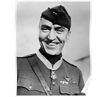 Eddie Rickenbacker Wearing The Medal Of Honor  Poster