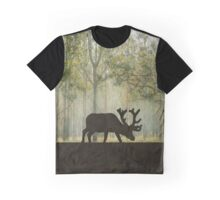 Moose in Forest Illustration Graphic T-Shirt