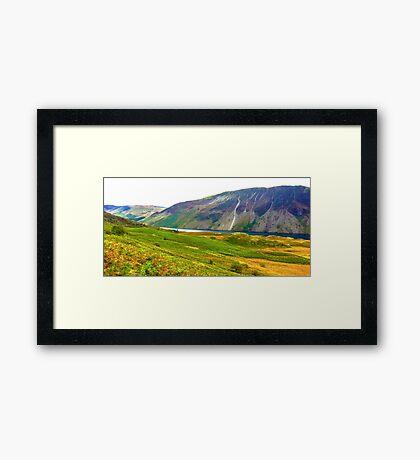 Wastwater Panorama, Lake District National Park, UK Framed Print