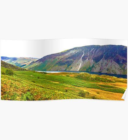 Wastwater Panorama, Lake District National Park, UK Poster