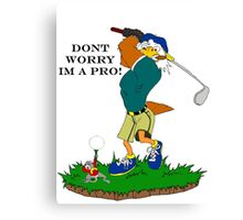 Golf-Pro Canvas Print