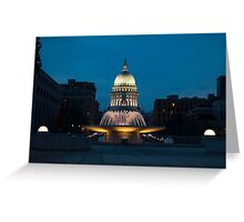 Madison, Wisconsin State Capitol Greeting Card