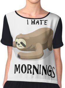 I Hate Mornings Chiffon Top