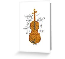 Violin Music Notes Motivational Jane Austen Quote Statement Typography Art Literary Print Greeting Card