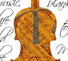 Violin Music Notes Motivational Jane Austen Quote Statement Typography Art Literary Print Sticker