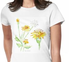 Dandelions (Perdeblom) - Botanical Womens Fitted T-Shirt