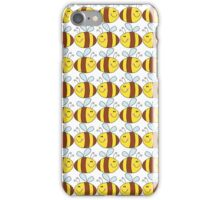 Cute Bumble Bee Drawing Pattern iPhone Case/Skin