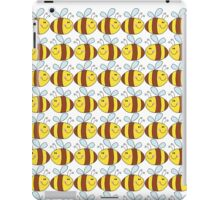 Cute Bumble Bee Drawing Pattern iPad Case/Skin