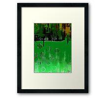 GREEN EMERALD GREEN Framed Print