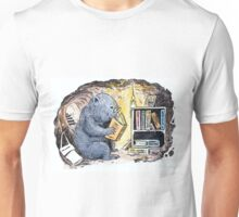 Mr Wombat Reads Unisex T-Shirt
