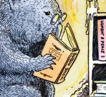 Mr Wombat Reads Sticker