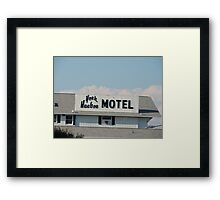 York Harbor Motel Framed Print