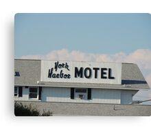 York Harbor Motel Canvas Print