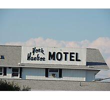 York Harbor Motel Photographic Print