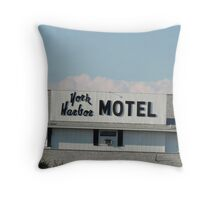 York Harbor Motel Throw Pillow